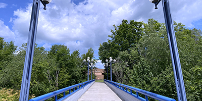 Bridge on the Utica Campus
